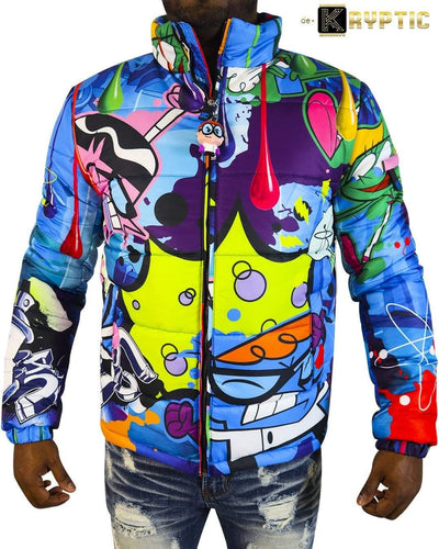 deKryptic x Dexter's Laboratory™ - Science Blue Bubble Jacket - de•Kryptic