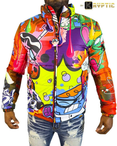 deKryptic x Dexter's Laboratory™ - Science Red Bubble Jacket - de•Kryptic