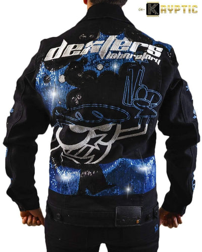 deKryptic x Dexter's Laboratory™ - Blaster Black Denim Jacket - de•Kryptic