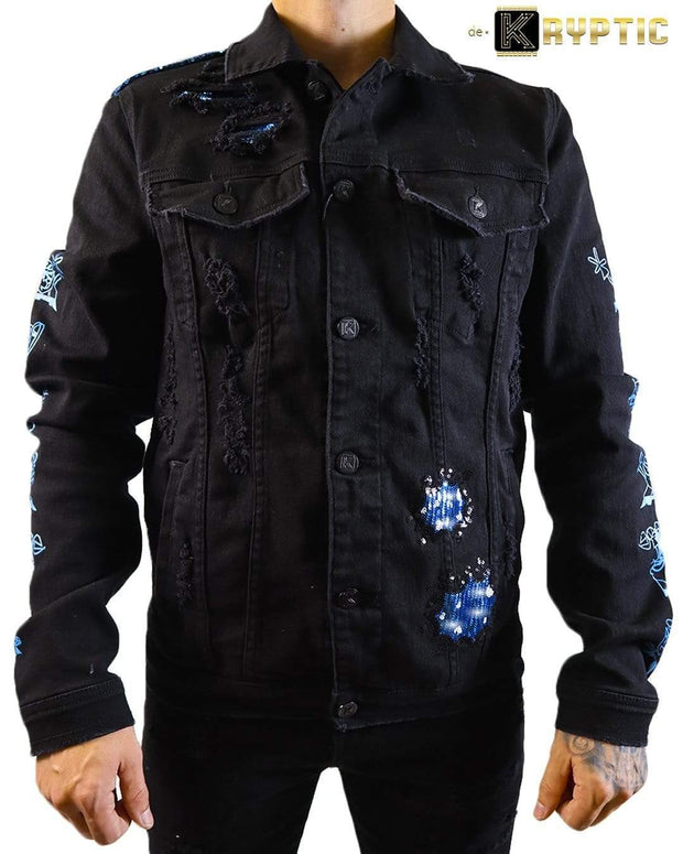 deKryptic x Dexter's Laboratory™ - Blaster Black Denim Jacket