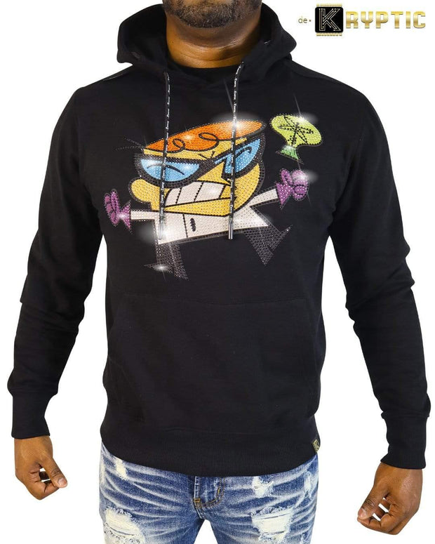 deKryptic x Dexter's Laboratory™ - EUREKA Stoned Black Hoodie