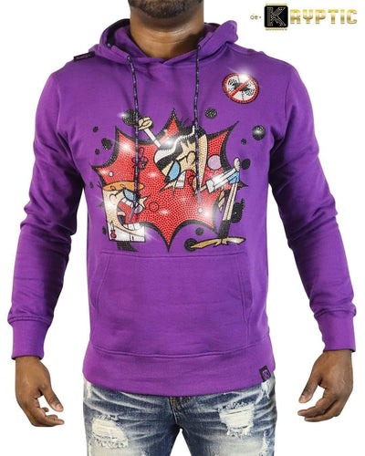 deKryptic x Dexter's Laboratory™ - Rivals Stoned Purple Hoodie - de•Kryptic