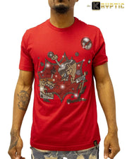 deKryptic x Dexter's Laboratory™ - Superior Genius Stoned Red T-Shirt