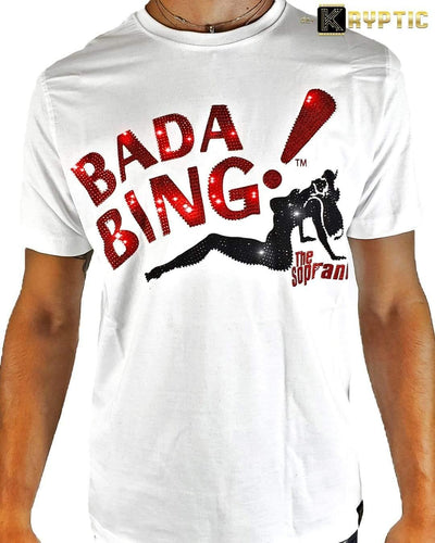 deKryptic x HBO® - The Sopranos - BADA BING - White Premium T-Shirt