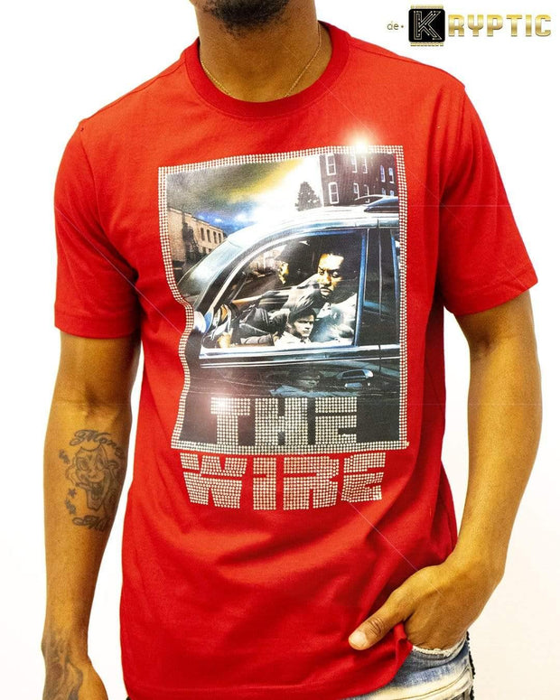 deKryptic x HBO® - THE WIRE - Stringer - Red Premium T-Shirt - de•Kryptic