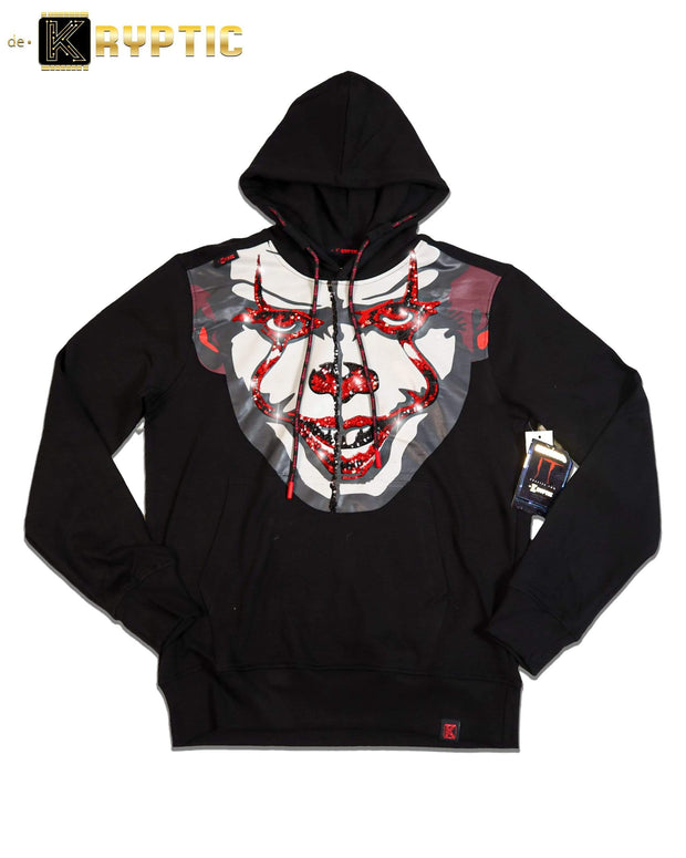 deKryptic x IT - Chapter 2™ Black Sequined Hoodie - de•Kryptic
