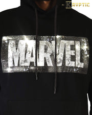 deKryptic x MARVEL© - Avengers Pencil Sketch Logo Black Hoodie