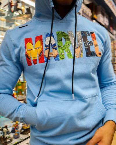 deKryptic x MARVEL© - Avengers Logo Blue Hoodie - de•Kryptic