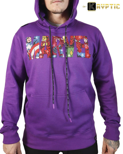 deKryptic x MARVEL© - Avengers Logo Purple Hoodie - de•Kryptic