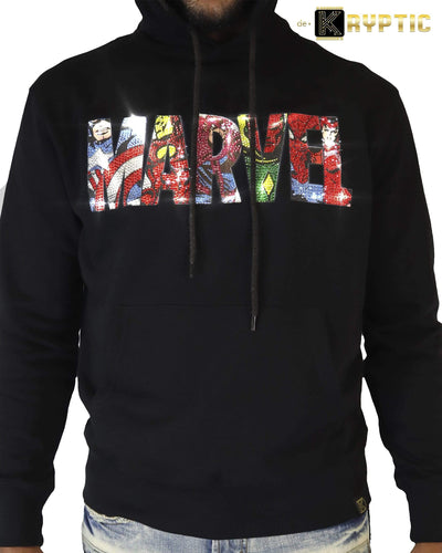 deKryptic x MARVEL© - Avengers Logo Black Hoodie - de•Kryptic