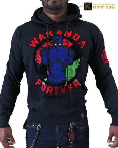 deKryptic x Marvel© x Black Panther - Wakanda Forever - Black Hoodie