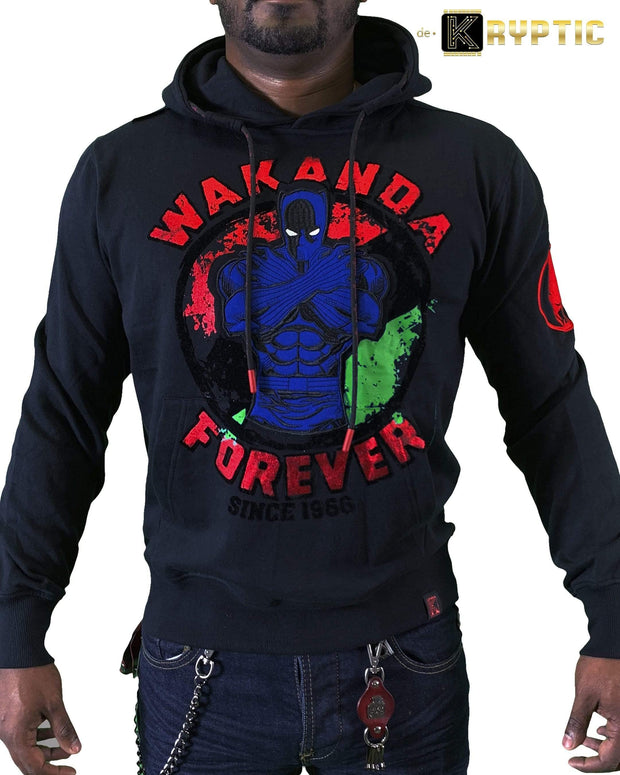 deKryptic x Marvel© x Black Panther - Wakanda Forever - Black Hoodie - de•Kryptic