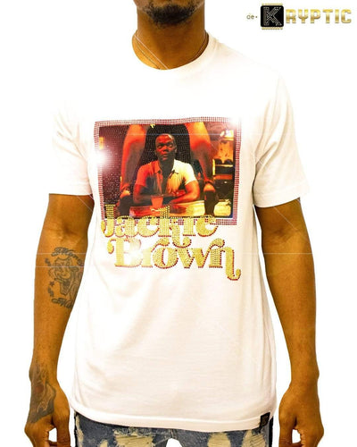 deKryptic x Miramax® - Jackie Brown - Ordell - White Premium T-Shirt - de•Kryptic