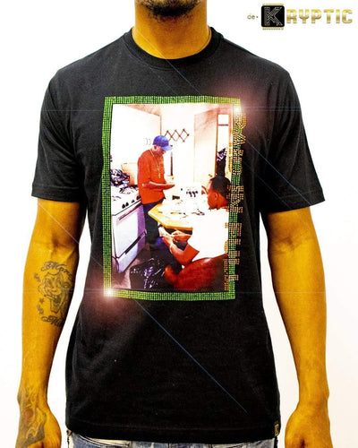 deKryptic x Miramax® - Paid In Full - Breaking Bread - Black Premium T-Shirt