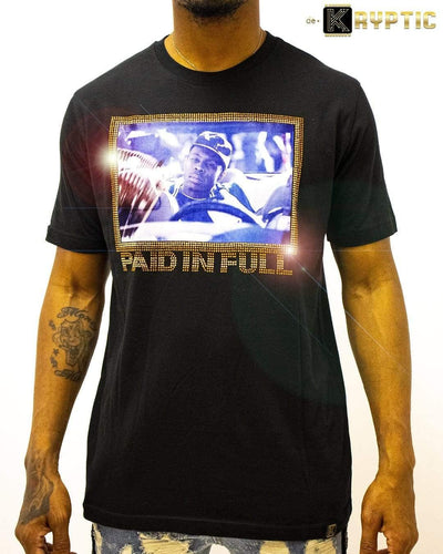 deKryptic x Miramax® - Paid In Full - The Drop Off - Black Premium T-Shirt - de•Kryptic
