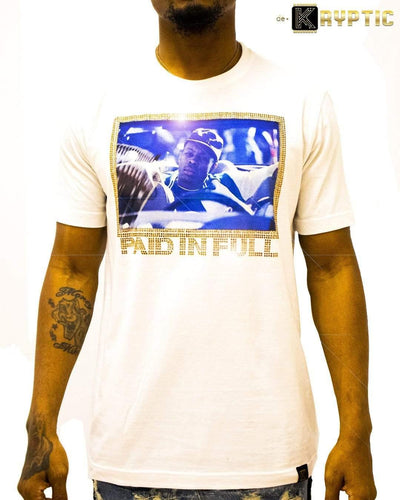 deKryptic x Miramax® - Paid In Full - The Drop Off - White Premium T-Shirt - de•Kryptic