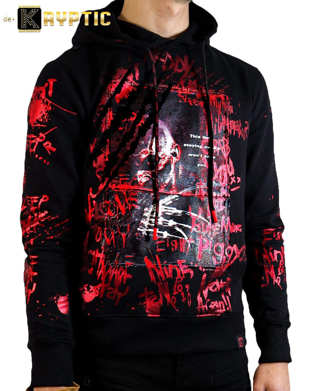 deKryptic x Nightmare On Elm Street™ Freddy Krueger Black Foil Hoodie