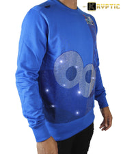 deKryptic x Sesame Street® - Cookie Monster Tokyo Rhinestoned Blue Crewneck - de•Kryptic