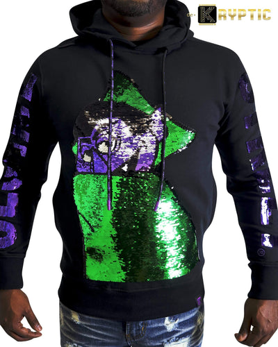deKryptic x Sesame Street® - The Count Sequined Hoodie - de•Kryptic