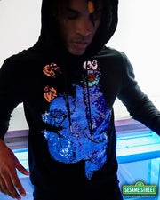 deKryptic x Sesame Street® - Cookie Monster Cookies Sequined Hoodie - de•Kryptic