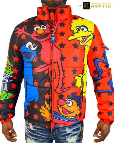 deKryptic x Sesame Street® - Friends Red Bubble Jacket