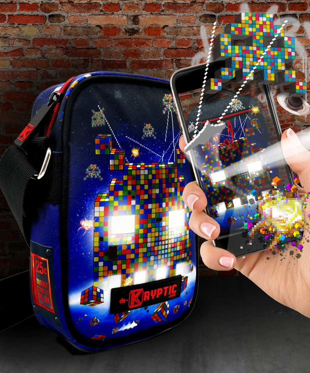 Rubik's™ Invaders Augmented Reality Cross Body Bag