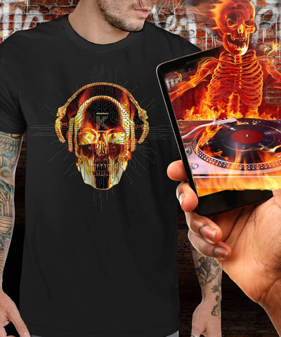 Dj Hot Head Augmented Reality T-Shirt