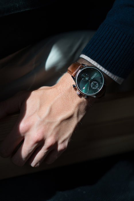 1815 Chronograph, Steel / Green Sunray - Special Edition
