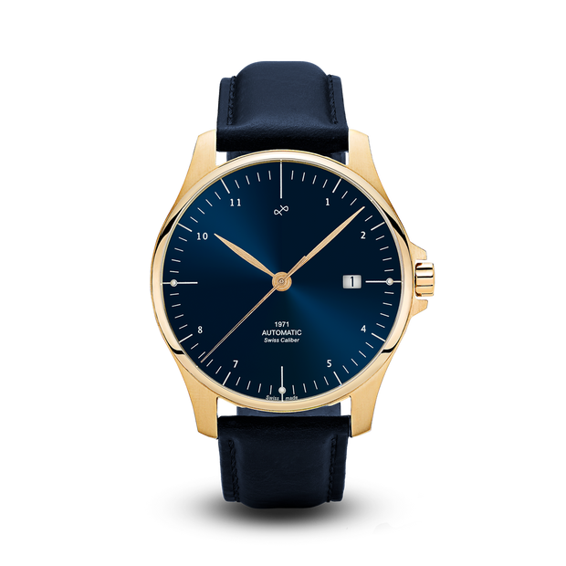 1971 Automatic, Gold / Night Blue - Swiss Made