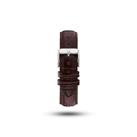 Pin Buckle - Brown Croco