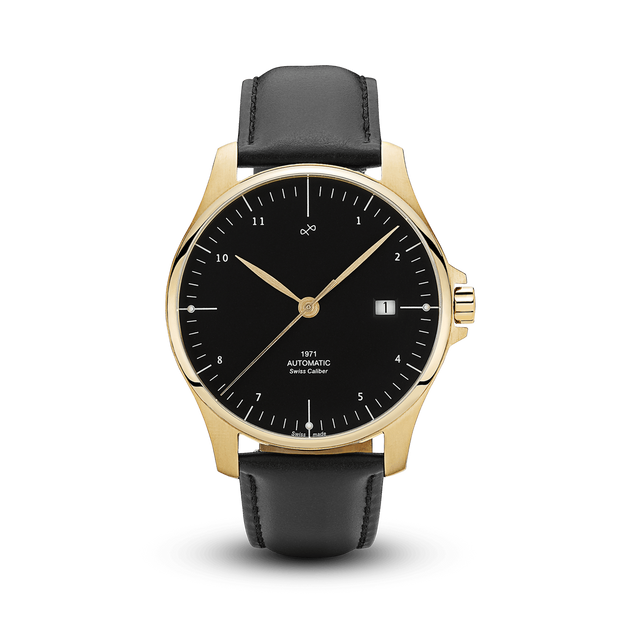 1971 Automatic, Gold / Black - Swiss Made