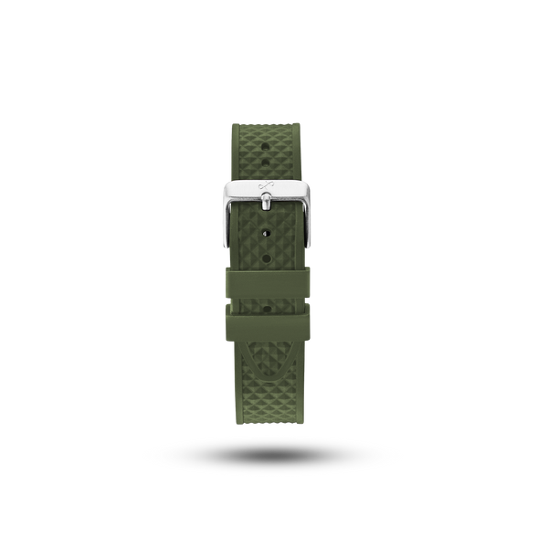 Pin Buckle - Green Silicone