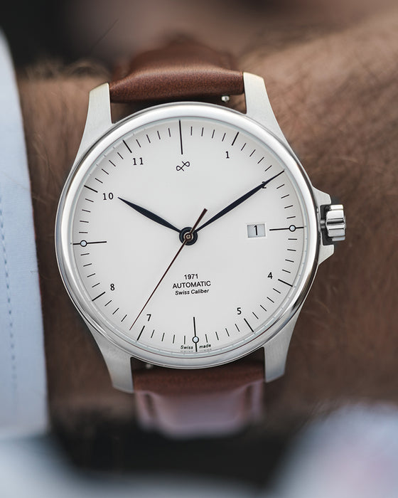 1971 Automatic, Steel / White - Swiss Made