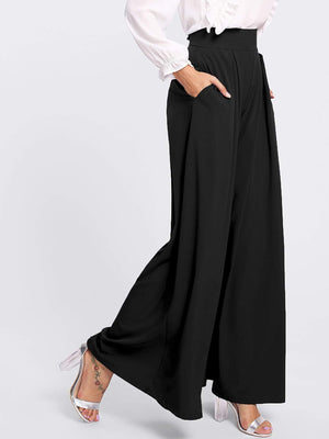 Pleated Detail Palazzo Pants