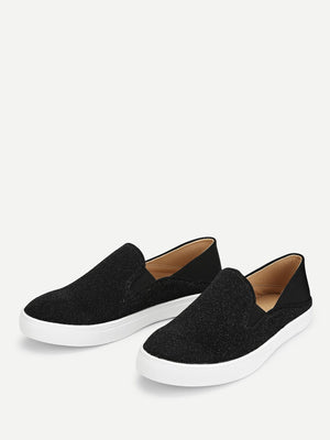 Round Toe Slip On Flat