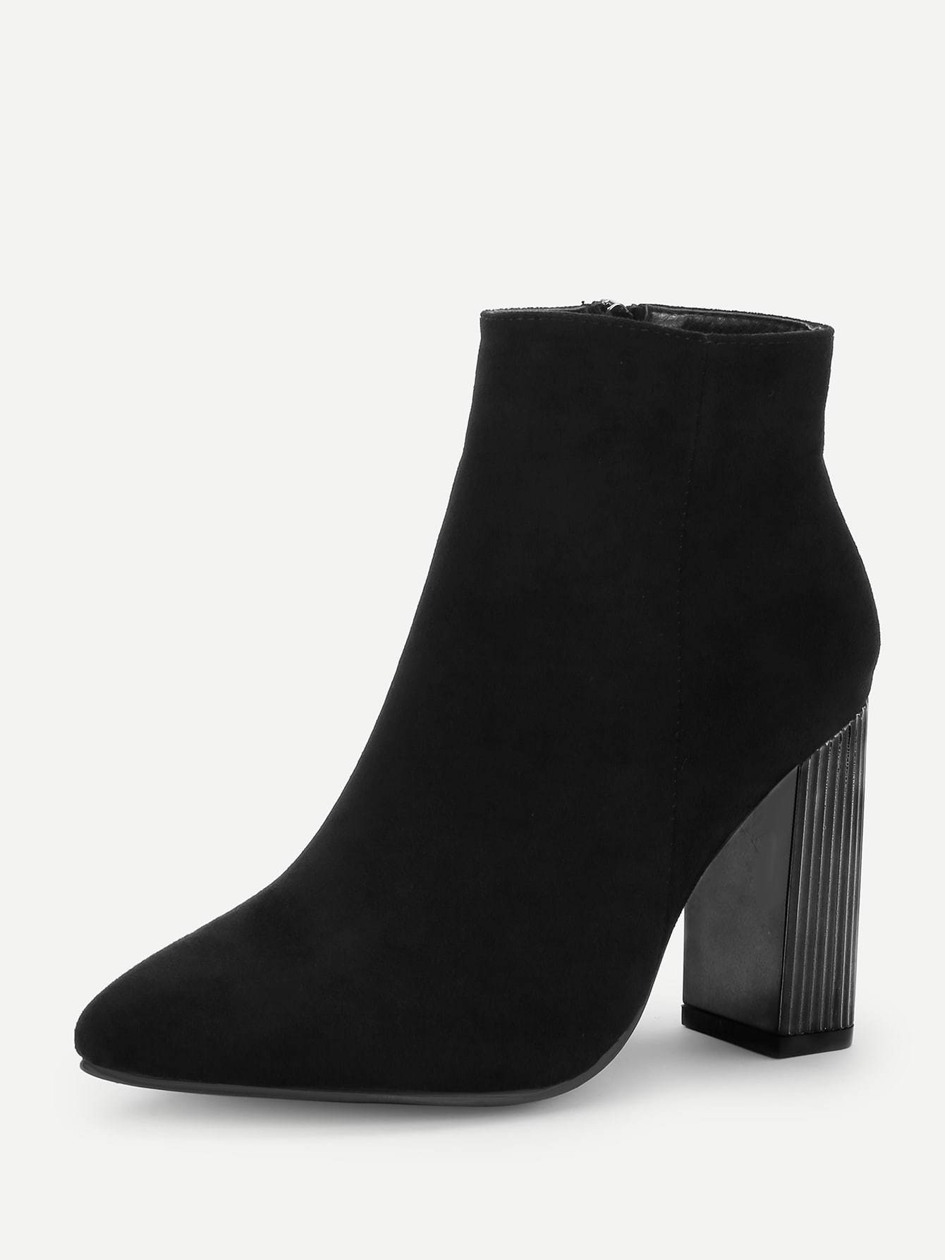 Block Heeled Ankle Boots