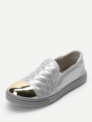 Quilted Cap Toe Sneakers