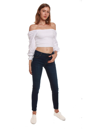 Mid Rise Slim Jeans