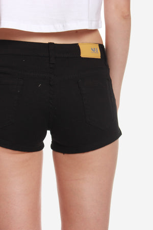 Classic Denim Shorts in black