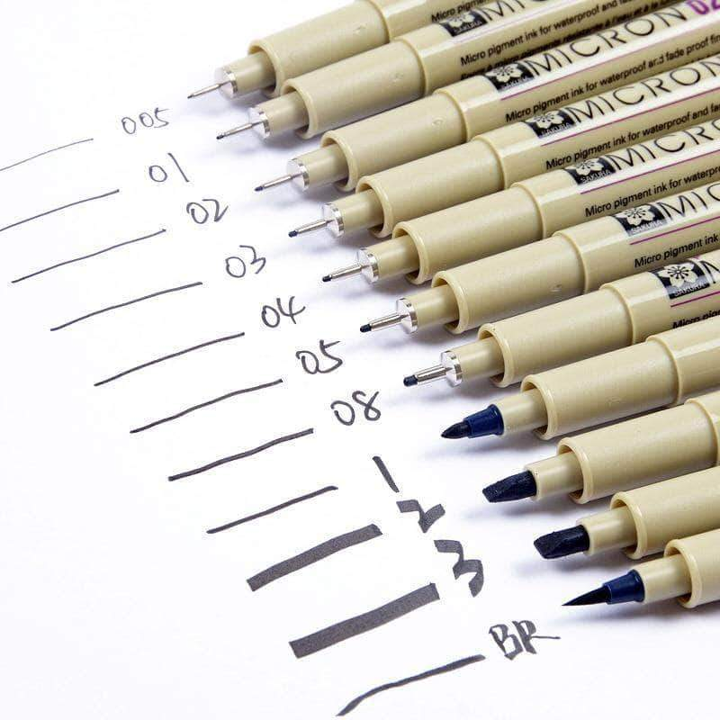 Sakura Pigma Micron Pens 13 Sizes Different Sets