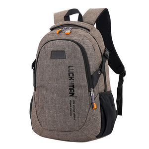 Anti Theft Travel Backpack with Zipper Canvas