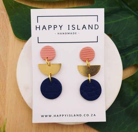 Navy & Pink Dangle