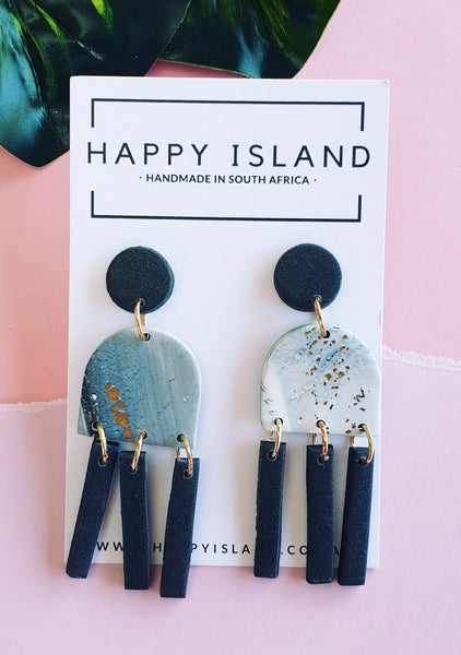 Marble Grey Jellyfish Dangle - HAPPY ISLAND