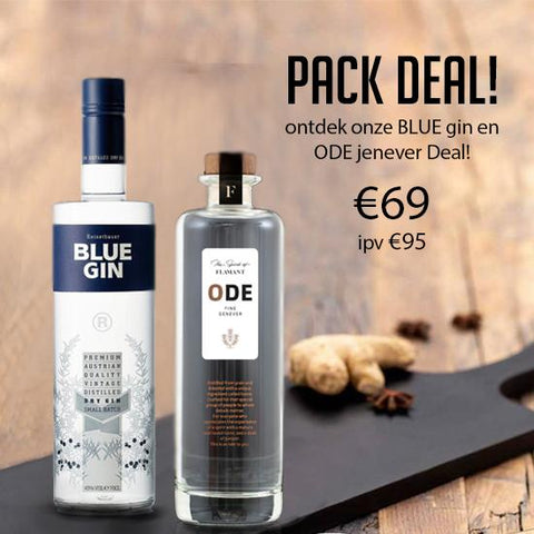 2 Pack deal! Blue gin en Ode jenever