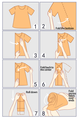 Rolling Method – How to Fold a Shirt Without Wrinkles and Save More Space