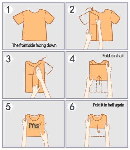 A.	Filing Method - How to Fold a Shirt or Tank Top Into a Drawer or Basket (I like this method so much!)