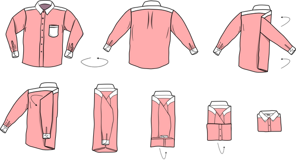 How to fold a dress shirt (especially when travelling)