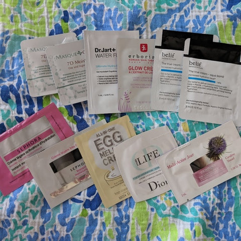 sample packets of moisturizer