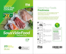 Load image into Gallery viewer, Masterspace Sous vide Food Vacuum bag (20 pcs)
