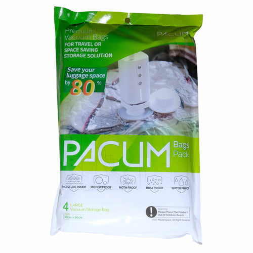 Premium Pacum Vacuum Bags for Traveling or as a Space Saving Storage Solution